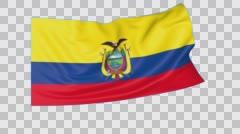 Waving flag of Ecuador, seamless loop.  Stock Footage