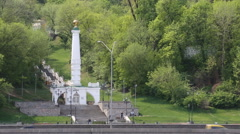 Monument magdeburzkomu law, Kiev, Ukraine Stock Footage
