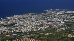 MEDITERRANEAN SEA KYRENIA CASTLE CYPRUS Stock Footage