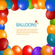 Balloons frame and sample text Stock Illustration
