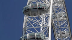 EDF ENERGY LONDON EYE PODS SOUTH BANK LONDON Stock Footage