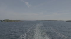 Waves from the back of a Finnish ferry - stock footage