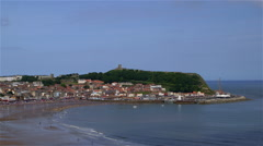 SOUTH BAY BEACH TOWN SCARBOROUGH YORKSHIRE ENGLAND Stock Footage