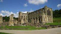 RIEVAULX ABBEY RUINS NORTH YORKSHIRE ENGLAND Stock Footage