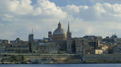BASILICA OUR LADY OF MOUNT CARMEL VALLETTA MALTA Stock Footage