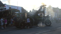 SMALL LARGE TRACTION ENGINES PICKERING YORKSHIRE Stock Footage