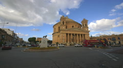ROTUNDA OF ST MARIJA ASSUNTA CHURCH MOSTA MALTA Stock Footage