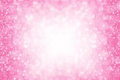 Pink Sparkle Border Background Stock Photos