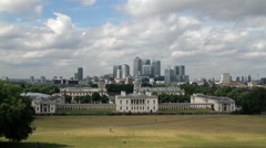 DOCKLANDS NATIONAL MARITIME GREENWICH LONDON Stock Footage