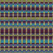 Seamless knitted pattern. Multicolored repeating tribal template. Piirros
