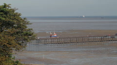 SOUTHEND PIER TRAIN SOUTHEND-ON-SEA ENGLAND Stock Footage