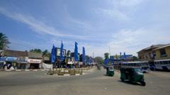 TUC TUCS BUSES OTHER TRAFFIC TANGALLA SRI LANKA Stock Footage
