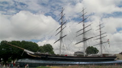 CUTTY SARK CLIPPER SHIP GREENWICH LONDON ENGLAND - stock footage