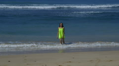 MODEL DANCING IN INDIAN OCEAN MIDIGAMA SRI LANKA Stock Footage