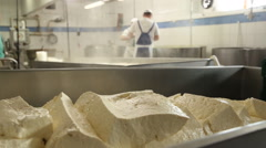 Cheese manufacture Stock Footage