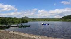 Holl Reservoir and West Lomond Fife Scotland Stock Footage