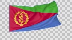 Waving flag of Eritrea, seamless loop.  Stock Footage
