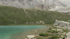 Lake in Yading national reserve in Daocheng County Stock Footage