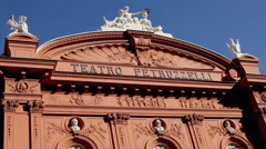 Petruzzelli theatre editorial out up view Stock Footage