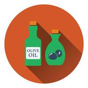 Bottle of olive oil icon - stock illustration