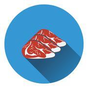 Raw meat steak icon Stock Illustration