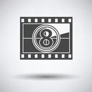 Movie frame with countdown icon - stock illustration