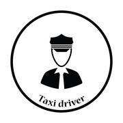 Taxi driver icon - stock illustration