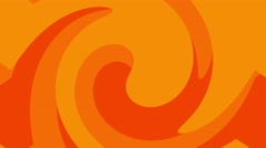 bright swirl ink mix abstract motion background loop orange - stock footage