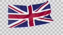 Waving flag of the United Kingdom of Great Britain and Northern Ireland - stock footage
