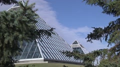 Short clip of the Mutant Conservatory in Edmonton, Alberta. - stock footage