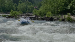 Ocoee Whitewater Extreme Slow Motion Awesome Shot Stock Footage