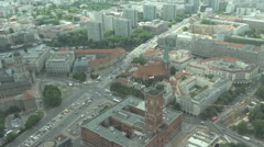 Berlin, panoramic city view from the TV tower - stock footage