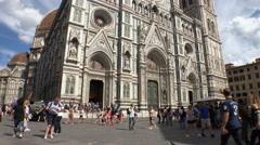 Tourists, Duomo, tilt up, Florence Stock Footage