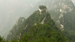 Ancient chinese Great Wall landmark in ruins, China Arkistovideo