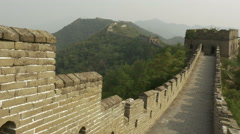 Ancient chinese Great Wall landmark, China Arkistovideo