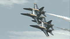 Blue Angels Diamond 360 Pass in Slow Motion Stock Footage