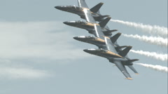 Blue Angels Performing Echelon Parade Pass in Slow Motion Stock Footage