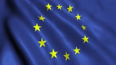 EU European Union flag loop video animation Stock Footage