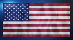 Waving USA flag animation background. UHD 4k 3840x2160 - stock footage