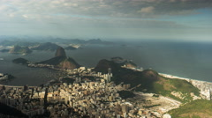 Sugarloaf mountain and copacabana beach time lapse in rio de janeiro, brazil Stock Footage