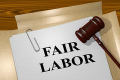 Fair Labor legal concept Stock Illustration
