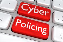 Cyber Policing - internet concept Piirros