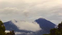 Reventador Volcano erupting, November 2015. Stock Footage