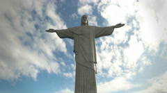 Afternoon view of christ the redeemer statue in rio Stock Footage