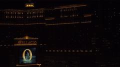 4K ES: The Bellagio Hotel on the Las Vegas Strip - Circa 2016 Stock Footage