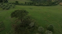 Aerial Drone shot of a valley Stock Footage