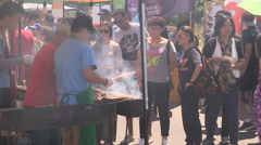 Markham taste of Asia Asian street food festival Stock Footage