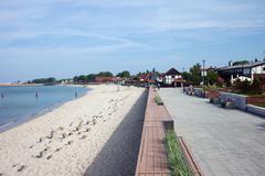 Hel Town Beach and Promenade in Poland Kuvituskuvat