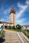 Observation Tower of Fisherman House in Wladyslawowo - stock photo