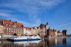 City of Gdansk Old Town Skyline in Poland Kuvituskuvat